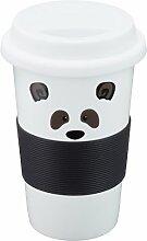 Nici Coffee-to-go Becher Panda 350 ml Porzellan