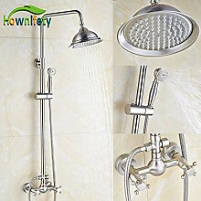 Nickel gebürstet Bad Dusche Wasserhahn Set 8 Zoll