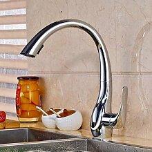Nickel gebürstet nach unten ziehen, Kitchen Sink Faucet Single Griff 2 Funktionen Outlet Wasser Mischbatterie
