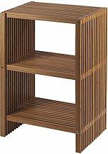 Nicol 9702060 Ferdinand Regal Bambus Faltbares, platzsparend mit 2 Fächern, braun, 36.0 x 75.0 x 50.0 cm