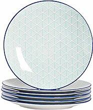 Nicola Spring Essteller mit geometrischem Design -