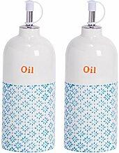 Nicola Spring Flaschen für Öl - Dressingflaschen