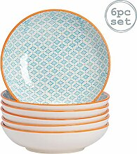 Nicola Spring Gemusterte Porzellan Pasta Schalen -