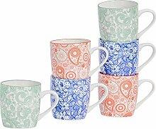 Nicola Spring Gemusterte Teetasse/Kaffeetasse mit