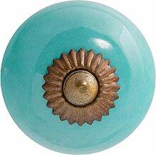 Nicola Spring Möbelknopf aus Keramik - Türkis