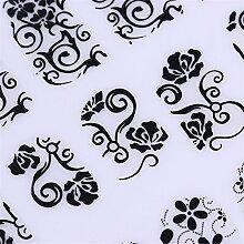 NICOLE DIARY 1 Big Sheet 3D Nail Sticker Multi Blumenmuster DIY Maniküre Floral Selbstklebende Nail Art Tipps Dekoration (Farbe: Schwarz)