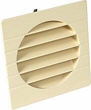 Nicoll Lüftungsgitter Abschlussgitter Insektenschutz 1GETM125 außen, Durchmesser 125, sand