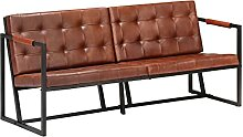 Nicoone 3-Sitzer-Sofa Ledersofa Sessel Sofa