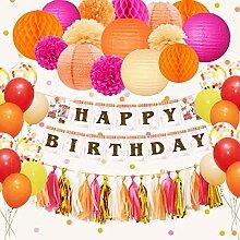 Nicrolandee Happy Birthday Dekorationen Hängende