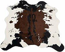 Nideen Kuhfell-Teppich, 140 cm x 160 cm, Braun