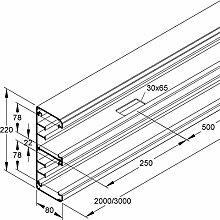 Niedax–Kanal alu-220–78Für CAD/3P-Wand 3m