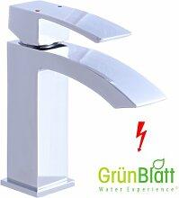 Niederdruck Bad Armatur mit Zugstange Waschtischarmatur Einhebelmischer Wasserhahn Badarmaturen armaturen Waschtischarmaturen