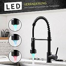 Niederdruck Wasserhahn Küche Schwarz