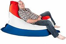 Niederländische Flagge Squashy Squarbie Sitzsack - Junior