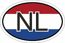Niederlande NL 15 x 10 cm mehrfarbig Autoaufkleber Aufkleber KFZ Flagge