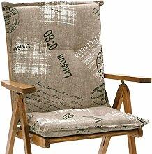 Niederlehner Auflagen 8 cm dick 103 cm lang in braun Miami 40260-620 (ohne Stuhl)