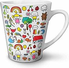 Niedlich Drucken Gestalten Muster Liebe NEU Weiß Tee Kaffe Keramik Latté Tasse 12 oz   Wellcoda