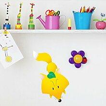 Niedlich Fox Wandaufkleber Wilde Tiere Wandtattoo Kunst Kinder Schlafzimmer Haus Dekor Erhältlich in 8 Größen Mittel Digital