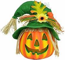 Niedlich Kürbis Licht, Rosa Schleife Halloween Deko Vogelscheuche Kürbis Leuchtet Led Nachtlicht Herbst dekoration für Halloween Karneval Bar