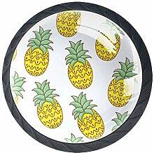 Niedliche Ananas-Küchenknöpfe aus ABS-Glas, für