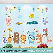 Niedliche Cartoon Kinderzimmer Layout
