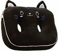 Niedliche Cartoon-Stuhl Pad Dickere Buttock Protektoren Kissen, schwarze Katze