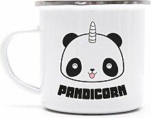 Niedliche Einhorn Unicorn Panda Metalltasse