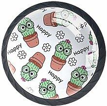 Niedliche Kaktus-Möbelknöpfe aus ABS-Glas, rund,