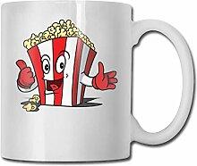 Niedliche Popcorn-Mode-Kaffeetasse-Porzellan-Becher