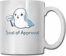 Niedliche Seelöwen Mode Kaffeetasse Porzellan