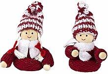 Niedliche Winter-Püppchen, Weihnachts-Deko, aus