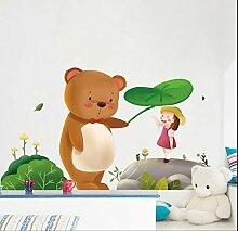 Niedlichen Bären Cartoon Aufkleber Wandaufkleber