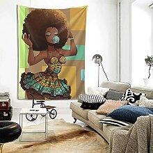 Niedlicher Kopf afrikanisches Mädchen Gummi Afro