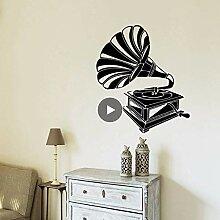 Niedlicher Phonograph Wandkunst Aufkleber