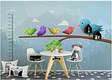 Niedliches Cartoon-kleines Vogeltier Wandsticker