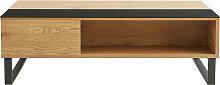 Niedriger Tisch verstellbar aus Holz und Metall