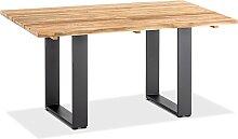 Niehoff Gartentisch Noah Low Teak Holz Profilkufe