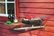 Nielsen Outdoor Balkon-Grill mit Tragarm und