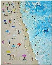 NIEMENGZHEN Leinwandmalerei Summer Beach Seascape