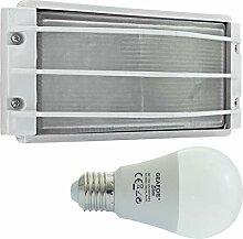 Nieplitz -LED 12W - E27 - Aluminium -Alu