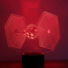 Night Light 3d Led Star Wars Tie Fighter Night