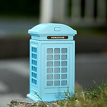 Night Light Telefonzelle Luftbefeuchter Anion Ultraschall Fragrance Sprühkopf Wasser Instrument unserer Öfen Weihnachten Ornament blau