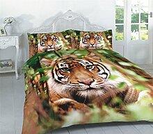 Night Zone - Bettwäsche-Set - Tiger-Fotoprint in