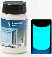 NighTec, Nachtfarbe, 100 ml, Leuchtfarbe mit intensiver Leuchtkraft - starker Glow Effekt und langanhaltendes Nachleuchten durch Lumineszenz