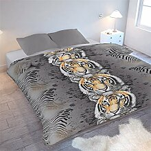 Nightlife - Bettwäsche / Bettbezüge Tiger - Grau