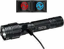 Nightsearcher Outdoor USB Akku Taschenlampe 1000