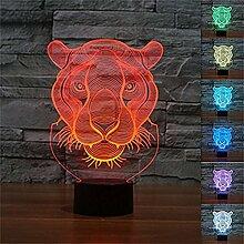 Nightwolf® Lampe Tiger 3D Nachtlicht 7
