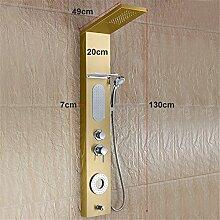 NIHE Neue Luxus Mode Gold Wasserfall Duschpaneel