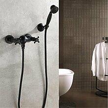 NIHE Schwarz Bronze Wanne Duscharmatur Badewanne