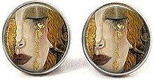 nijiahx Gustav Klimt – weinende Frauen-Ohrringe,